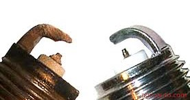 Old and New Spark Plugs Comparison | Scheduled Maintenance